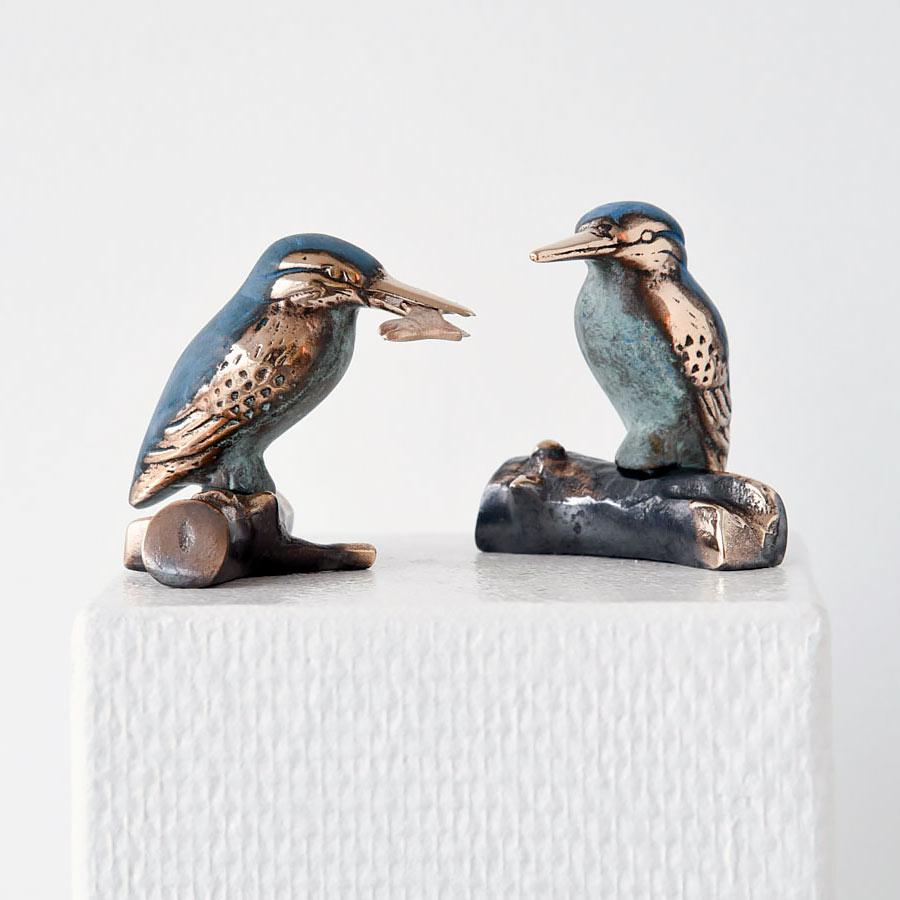 Isfugle Par Bronze 8 cm Kr 1.900 Sæt (€ 255)